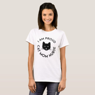 I Am Proud Cat Mom With Cute a Cat Face T-Shirt