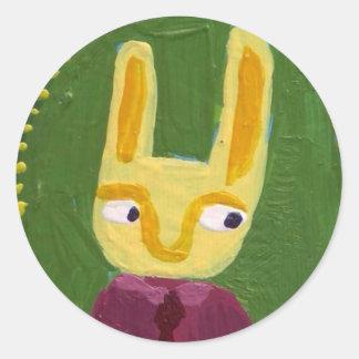 I am rabbit. round sticker