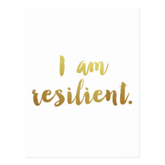 I Am Resilient Postcard