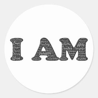 i-am round sticker
