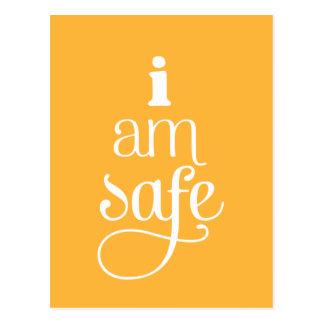 I am Safe Affirmation Postcard