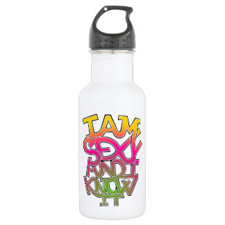 I am sexy and I know it - graffiti 532 Ml Water Bottle