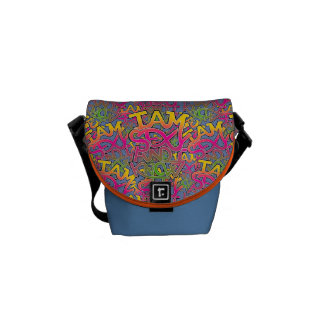 I am sexy and I know it - graffiti Courier Bag
