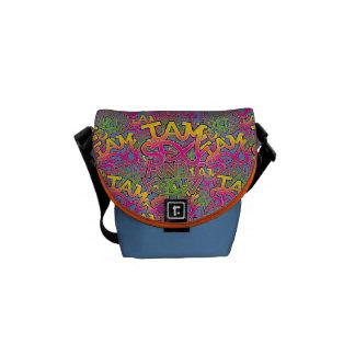 I am sexy and I know it - graffiti Messenger Bag