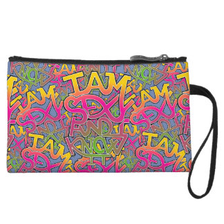 I am sexy and I know it - graffiti Wristlet