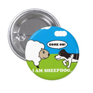 I AM SHEEPDOG 缶バッヂ ピンバッジ