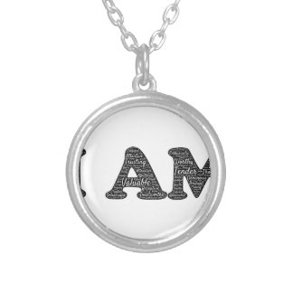 i-am silver plated necklace
