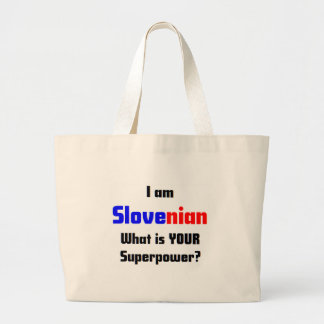 I am Slovenian Large Tote Bag