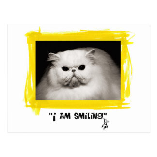 I am smiling postcard