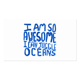 I Am So Awesome I Can Juggle Oceans. Slogan. Business Card Template