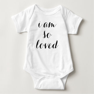 I Am So Loved Baby Outfit Baby Bodysuit