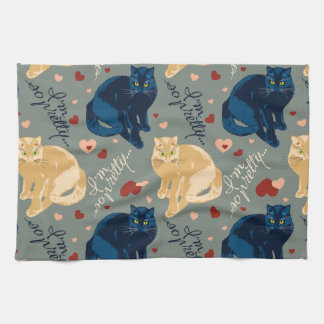 I am so pretty cat! kitchen towel