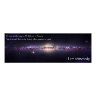 I am somebody - Inspirational Panoramic Poster