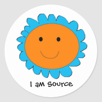 I am Source 2, I am Source Round Sticker