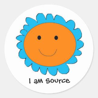 I am Source 2, I am Source Round Sticker
