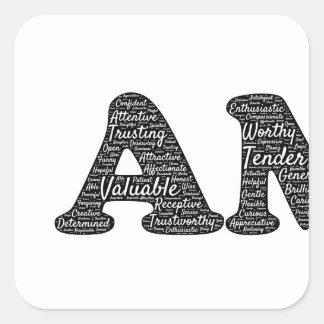 i-am square sticker