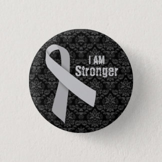 I am stronger than MS 1 Inch Round Button