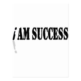 I Am Success Postcard