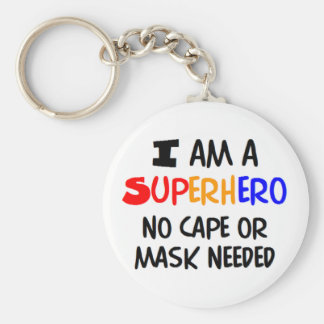 I am superhero key chains