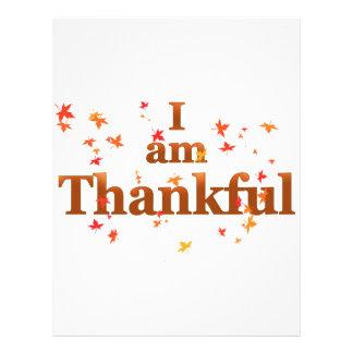 i am thankful custom letterhead