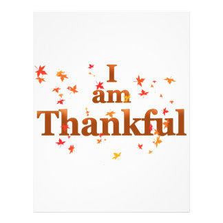 i am thankful letterhead