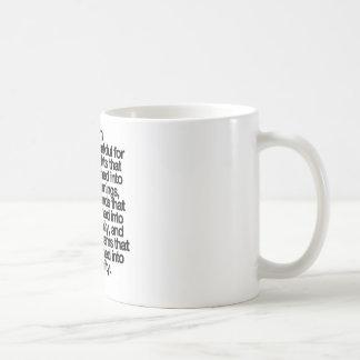 I Am Thankful Basic White Mug