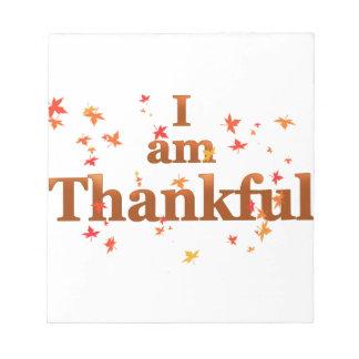 i am thankful notepad
