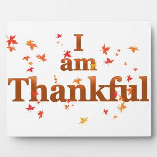 i am thankful plaque