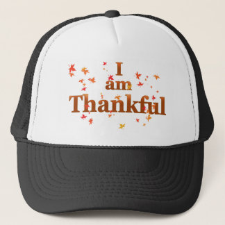 i am thankful trucker hat