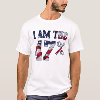 I am the 47% Percent American Flag t shirt