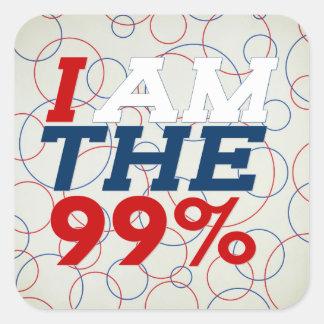 I AM THE 99% SQUARE STICKER