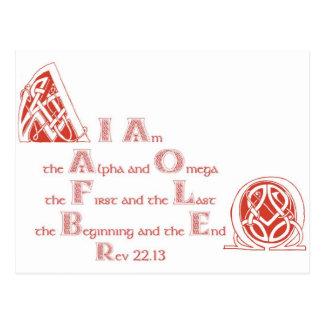 I am the Alpha and Omega Postcard