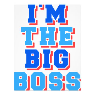 I am the Big boss Letterhead