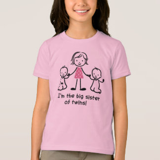 I am the Big Sister of Twins t-shrits for girls T-Shirt