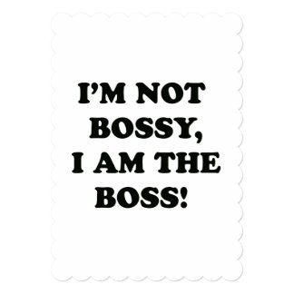 I Am The Boss Card