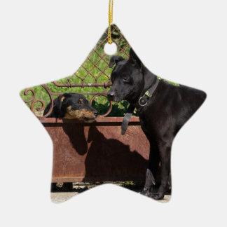 I am the boss ceramic star ornament