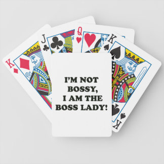 I Am The Boss Lady Bicycle Playing Cards