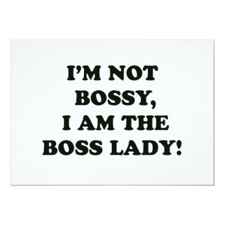 I Am The Boss Lady Card
