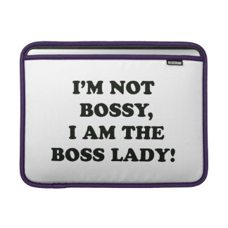 I Am The Boss Lady MacBook Sleeve