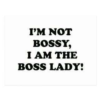 I Am The Boss Lady Postcard