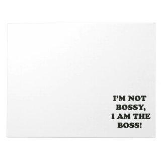 I Am The Boss Notepad