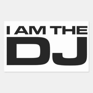 I Am The DJ Rectangle Stickers
