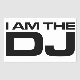 I Am The DJ Sticker