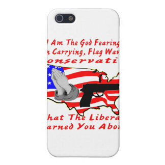I Am The God Fearing, Gun Carrying, Flag Waving iPhone 5 Covers