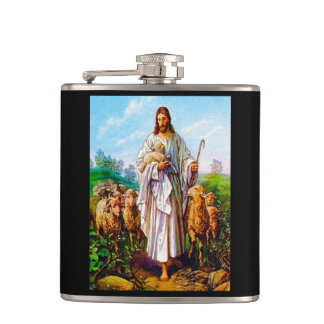 I Am the Good Shepherd John 10:7-21 Hip Flask
