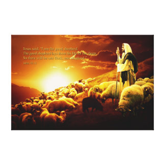 """""""I am the good shepherd. Wrapped Canvas"""
