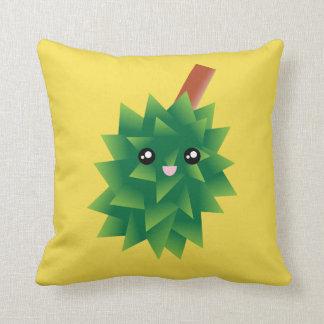 I Am The King of Fruits Durian Kawaii Manga Throw Pillow