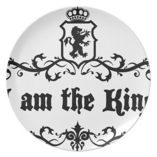 I am The King Plate