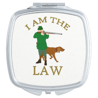 I am the law with a farmer with a gun makeup mirrors