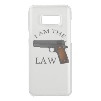 I am the law with a hand gun uncommon samsung galaxy s8 plus case